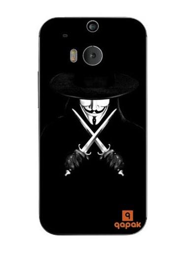 HTC One M8 Baskılı İnce Kapak-Qapak